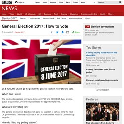 General Election 2017: How to vote