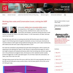 General Election 2015 – Working class votes and Conservative losses: solving ...