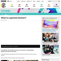 What is a general election? - CBBC Newsround