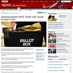 General election 2015: Youth vote 'could be key to win'
