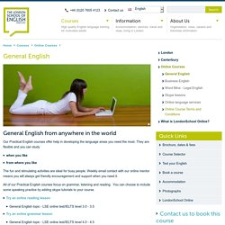 General English - London School of English