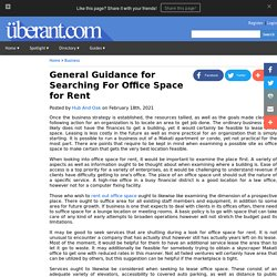 General Guidance for Searching For Office Space for Rent
