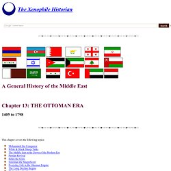 A General History of the Near East, Chapter 13