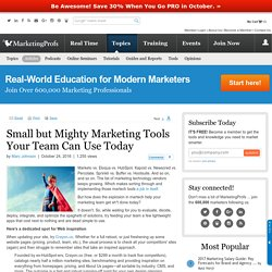 General Management - Small but Mighty Marketing Tools Your Team Can Use Today