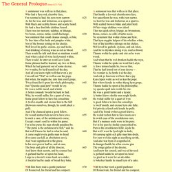 The General Prologue - Translation
