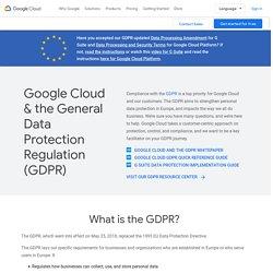 Règlement général sur la protection des données (RGPD)