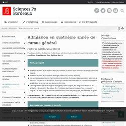4e année du cursus général - Sciences Po Bordeaux