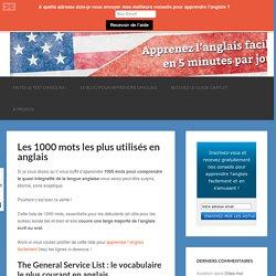 General Service List : les mots les plus utilisés en anglais
