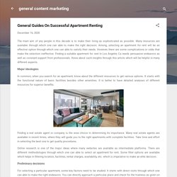 General Guides On Successful Apartment Renting