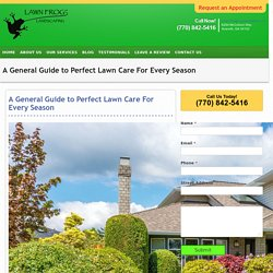 A General Guide to Perfect Lawn Care For Every Season