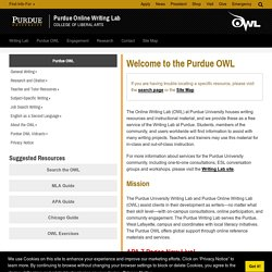 the purdue owl online writing lab