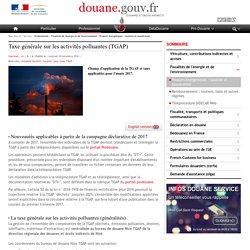 Taxe générale sur les activités polluantes (TGAP)