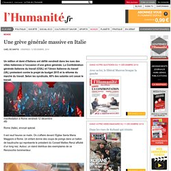 Une grève générale massive en Italie
