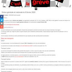 Grève générale et nationale le 6 février 2020