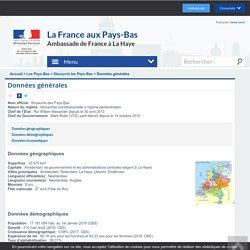 Données générales - Frankrijk in Nederland/ La France aux Pays-Bas