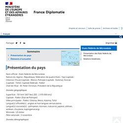 Données générales - Ministère de l'Europe et des Affaires étrangères