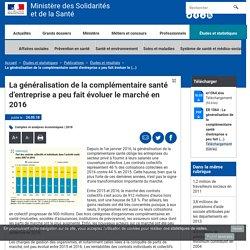 La généralisation de la complémentaire santé d'entreprise a peu fait évoluer le marché en 2016