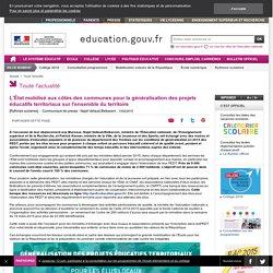 L'État mobilisé aux côtés des communes pour la généralisation des projets éducatifs territoriaux sur l'ensemble du territoire