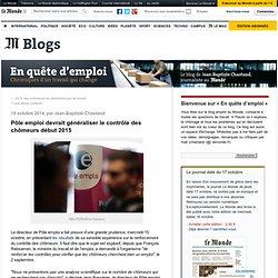 15/10 Pôle emploi devrait généraliser le contrôle des chômeurs début 2015