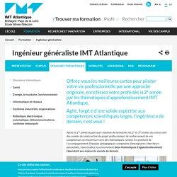 La formation ingénieur généraliste IMT Atlantique