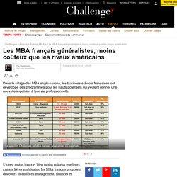 Les MBA français généralistes, moins coûteux que les rivaux américains