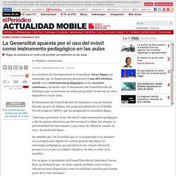 La Generalitat apuesta por el uso del móvil en las aulas