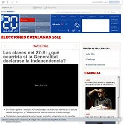 Las claves del 27-S: ¿qué ocurriría si la Generalitat declarase la independencia?
