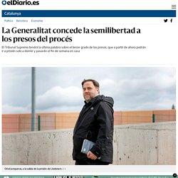 La Generalitat concede la semilibertad a los presos del procés
