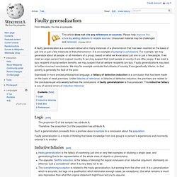 Faulty generalization
