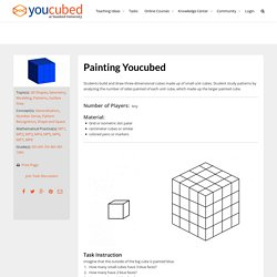 Painting Youcubed - Generalization, Number Sense, Pattern Recognition, Shape and Space