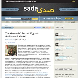 The Generals' Secret: Egypt's Ambivalent Market