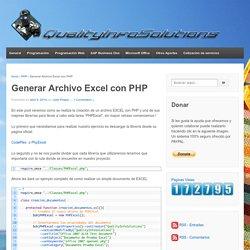 Generar Archivo Excel con PHP