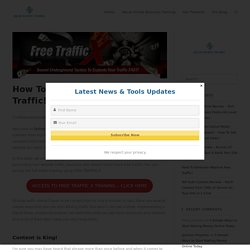 How To Generate Massive Free Traffic! - Online Business Training