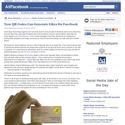 Now QR Codes Can Generate Likes On Facebook