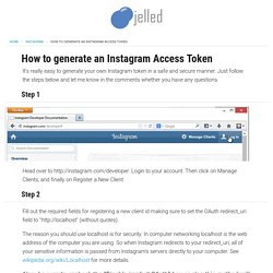 How to generate an Instagram Access Token