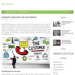 Generate leads with live chat service