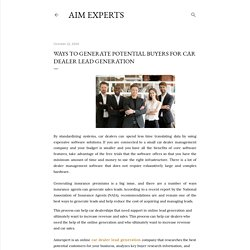 Ways to Generate Potential Buyers for Car Dealer Lead Generation