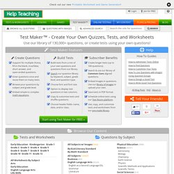 Free Test Maker - Generate Your Own Printable Quizzes, Tests, and Worksheets