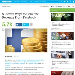 5 Proven Ways to Generate Revenue From Facebook