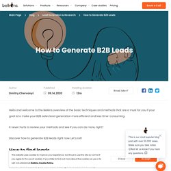 How to Generate B2B Leads