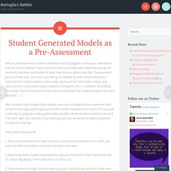 Student Generated Models as a Pre-Assessment