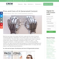 Pros and Cons of AI Generated Content - Crewmachine