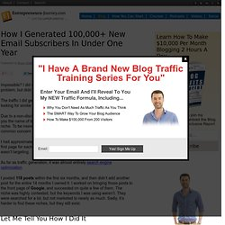 How I Got 100,000+ New Email Subscribers In Under One Year