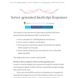 Server-generated JavaScript Responses