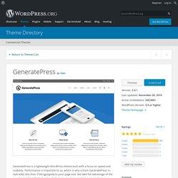 GeneratePress - WordPress theme