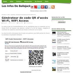 Générateur de code QR d'accès Wi-Fi, WIFI Access