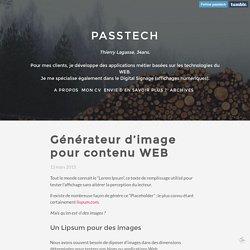 Générateur d'image pour contenu WEB - Passtech