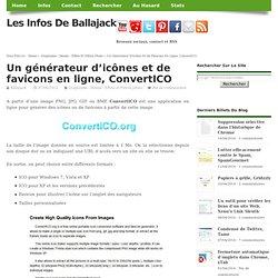 Un générateur d'icônes et de favicons en ligne, ConvertICO