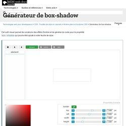 Générateur de box-shadow - CSS