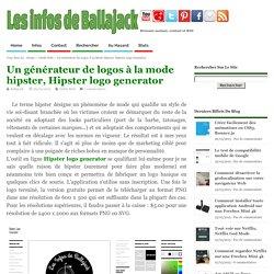 Un générateur de logos à la mode hipster, Hipster logo generator